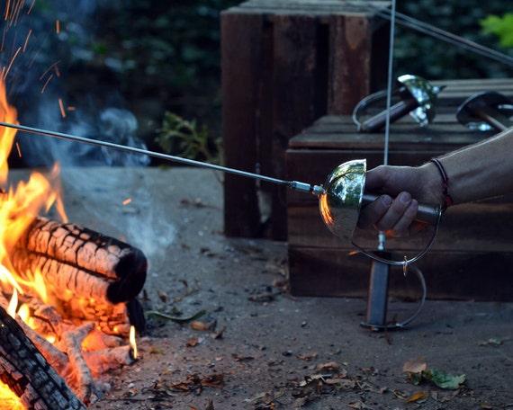 Zorro Sword Campfire Roaster. Hot Dog Roaster. Marshmallow Roaster. Sword. Roasting Sticks