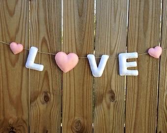 LOVE Banner - Valentine's day Banner - Valentine Garland - Valentine Banner - Decorative Banner