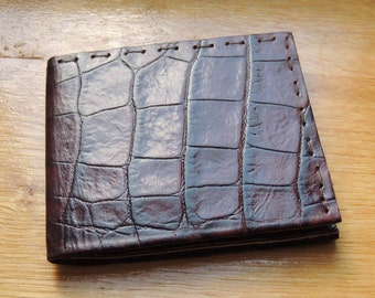 Man croco leather wallet