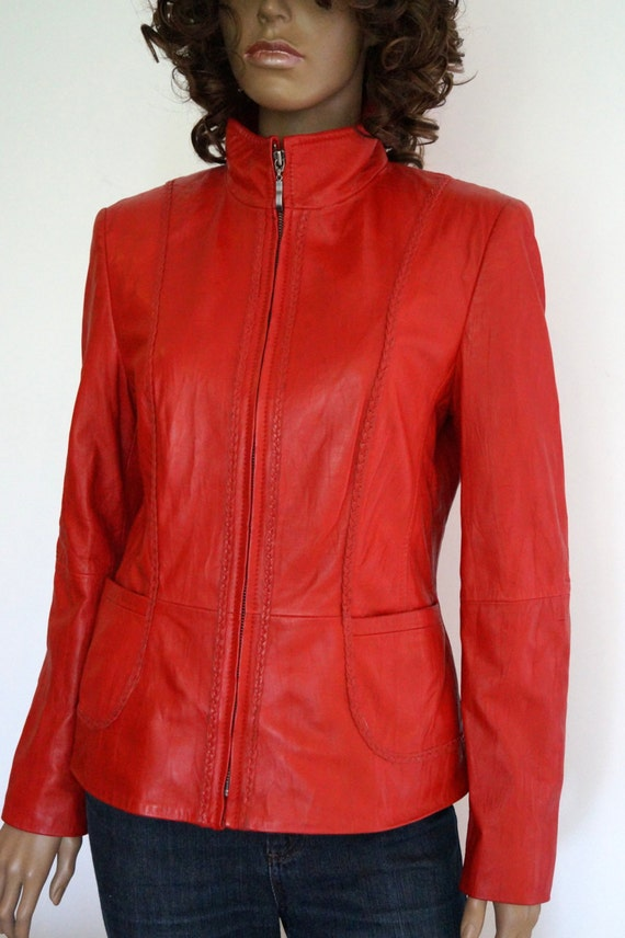 Red Leather Jacket Gerry Weber Women S Leather Jacket