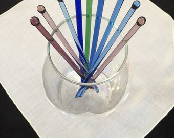 Vintage Colored Swizzle Sticks/Stirrers