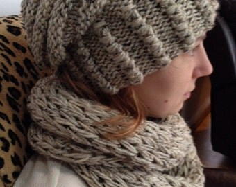 Hat with infinity scarf set
