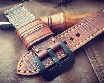 Strap panerai. Bracelet for watch type panerai. Legacy collection: 12 gauge