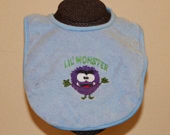 Lil Monster Bib for Boys or Girls