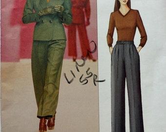 Uncut 2001 Vogue Sewing Pattern 2519; Size 8-10-12; Misses' Jacket and Pants; Yves Saint Laurent