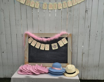 Banner•Tea Party•Dress up•Handmade•Made to order