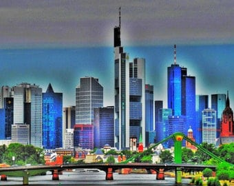 Skyline of Frankfurt am Main, Forex, ALU-Dibond