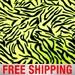 "Fleece Fabric Zebra Stripes Neon Yellow 60"" Wide Free Shipping Style PT 983"