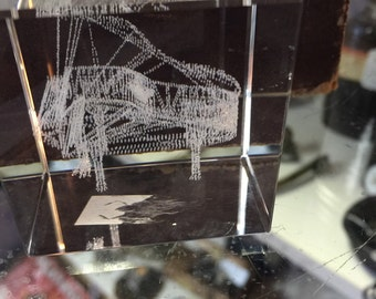 Etched Glass Cube Etsy