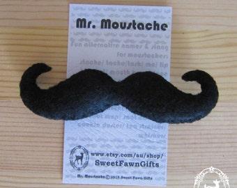 Mr. Moustache/Movember/felt/pin/brooch/gift
