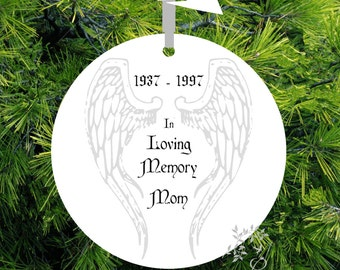 Guardian Angel Memorial Ornament  Gift of Remembrance loved one -#GA25 - lovebirdschristmas