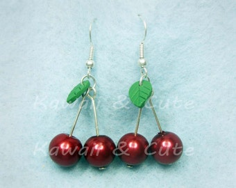 Earrings Cherries