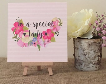 To A Special Lady Card