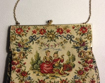 Walborg Petit Point Tapestry Purse - Made in France