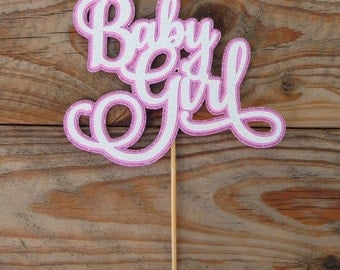 Baby Girl Cake Topper. Pink Baby Girl Topper. Baby Girl Topper. Baby Shower Cake Topper. Girl Baby Shower. It's a Girl. Pink Baby Shower