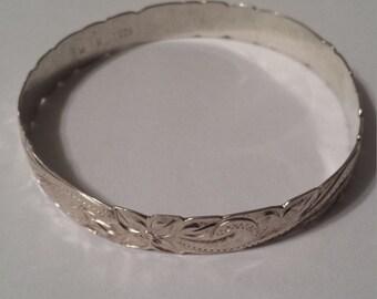 Sterling Silver .925 Hawaiian Bangle