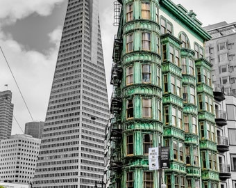 Old and modern San Francisco