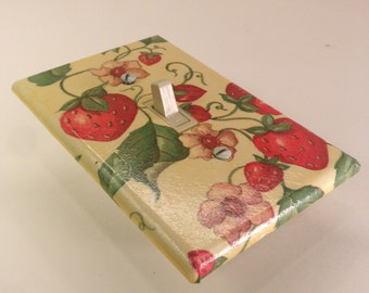 Strawberry Switch Plate Cover - Single - Switchplate