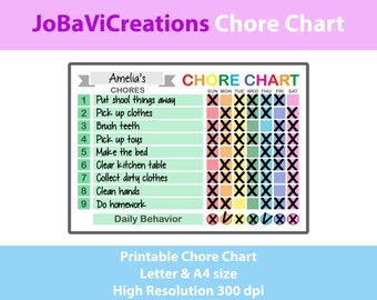 Chore Chart Printable. Chore Chart Rainbow Design. Chore Chart for Kids. Chore Chart for Children. Tasks Kids Chart. Tasks Children Chart.