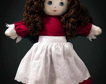 Dress, Bloomers, and Apron for Josephine's Doll and other 21-inch (53 cm) dolls (doll not included)