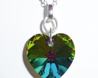 Swarovski Crystal Forest Heart Necklace