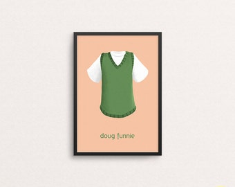 Doug Funnie T-Shirt and Vest Illustration / Doug Art Print