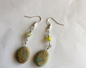 Green Stone Earrings