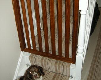 Mahogany wooden gate