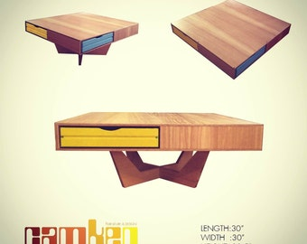 Floating Modern Coffee Table w/ Storage