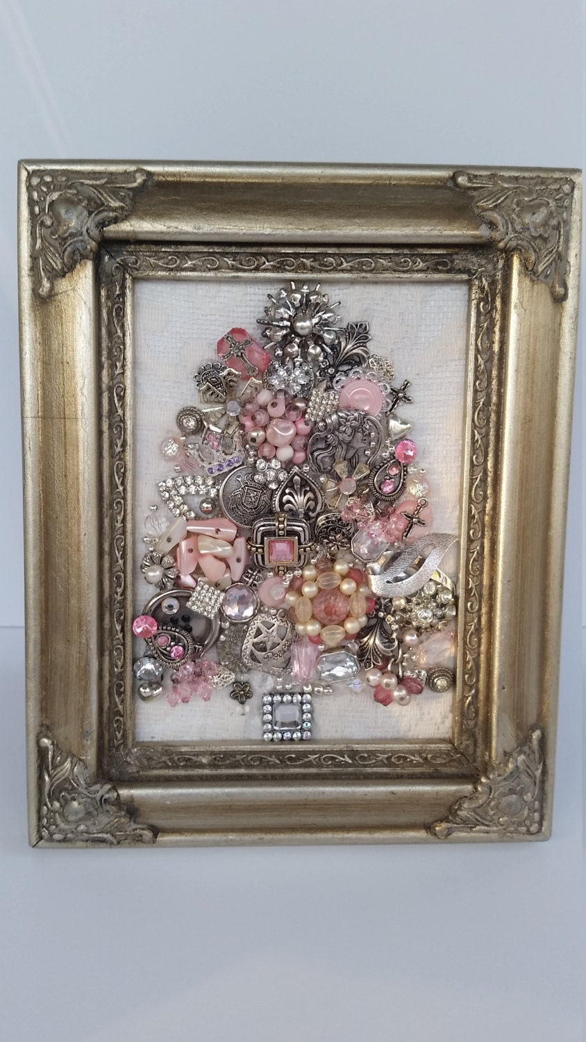 Jewelry Art Vintage Jewelry Art Framed Jewelry Art Jewelry
