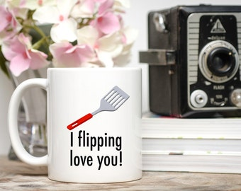 Father's Day Gift, Funny Mug For Men, I Flipping Love You, Gifts for Men, Gift for Dad,  Father's Day Gifts, Manly Gift, I Flippin Love You