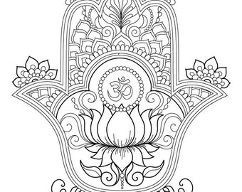 hamsa coloring pages - hamsa coloring page items similar to book sunny side up on