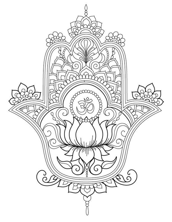 hamsa coloring pages - photo#7