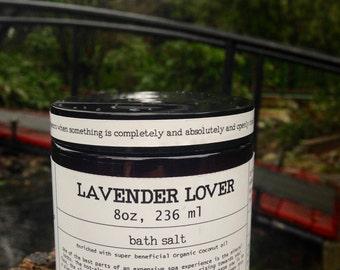 Aromatherapy Lavender Lover Bath Salt, nourishing, moisturizing, relaxing, pampering, gift