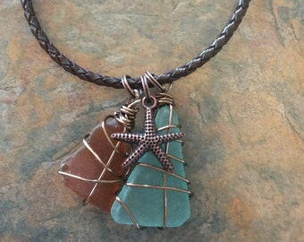 Roped Sea Glass Bracelet