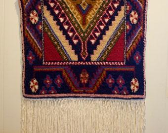 Shiraz Design Ghiordes Knots Loom Woven Wall Hanging/Prepaid Postage