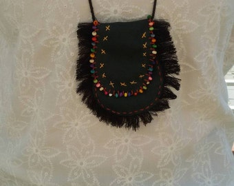 Leather Pouch Necklace
