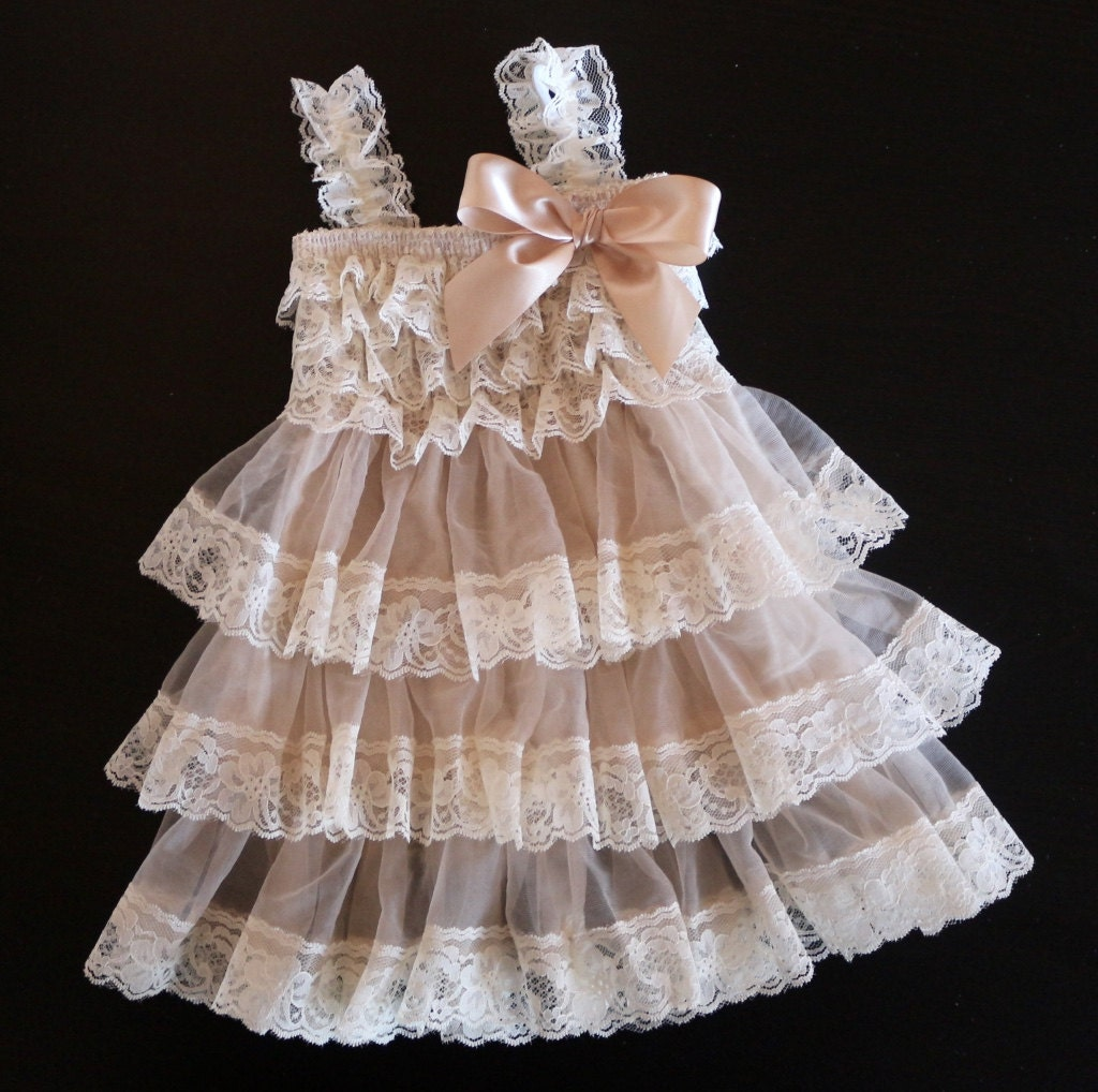 Rustic Flower Girl Dress Country Flower Girl Dress Baby
