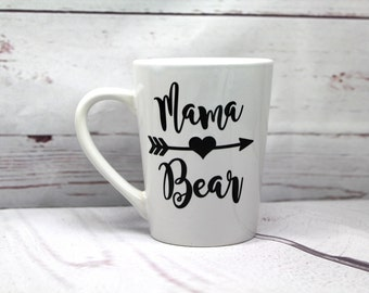 Mama Bear Coffee Cup, Mom gift, Gift for her, Mothers Day gift, Baby Shower Gift, New Mom Gift, Gift For Wife, Gift For Mom, Mama Bear Gift