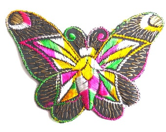 Applique. Butterfly applique, 1930s vintage embroidered applique. Vintage patch, sewing supply. Applique, Crazy quilt. #641G86K16