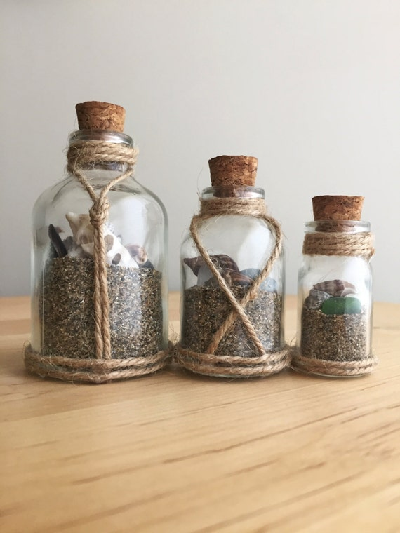 Beach In A Bottle Beach Theme Glass Bottles Seashells Amp Sand