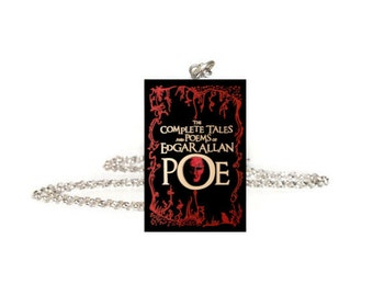 Edgar Allan Poe Necklace, The Raven, Miniature Book Necklace, Bookmark or Earrings