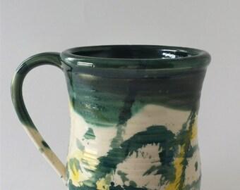 Large Ceramic Splatter Mug - Pottery - Mug