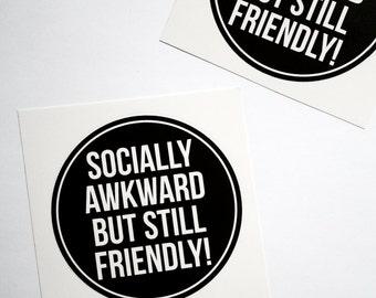 Socially Awkward Sticker Anxiety Awareness Mental Health