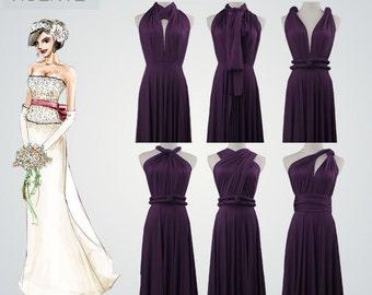 Set of 6 bridesmaid gifts,convertible dresses,infinity dresses,long bridesmaid dresses,infinity dress,convertible wrap dress,infinity dress