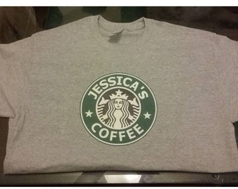 Custom Starbucks Coffee T-Shirt Personalized