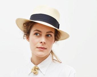 Chapeau Panama à bord plat