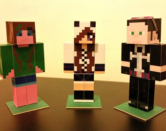 PERSONALISED Custom Minecraft character figure - professional quality paper model