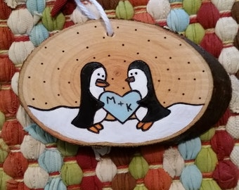 Love penguins ornament