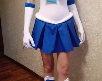 Super sailor mercury cosplay costume anime manga Sailor Moon Senshi fuku Ami Mizuno dress